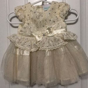 Formal Ivory Baby Dress 0-3months